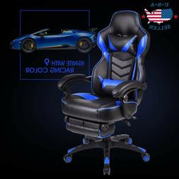 Video Computer Gaming Chair High Back Recliner w/ Footrest R