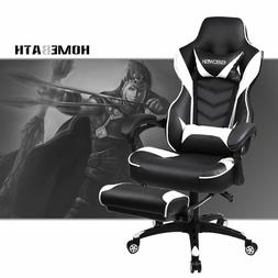 video computer gaming chair w recline footrest