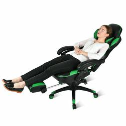 Video-Computer-Racing-Gaming-Chair-w-Footrest-Office-Re