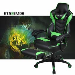 Video Computer Racing Gaming Chair w/ Footrest Office Reclin