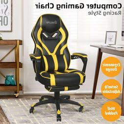 Video Gaming Chair Racing Recliner Ergonomic PU Leather Offi