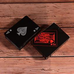 Waterproof Black Plastic Playing Cards Collection Poker Card