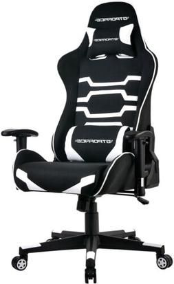White High Back Ergonomic Swivel Gaming Chair Racing Style A