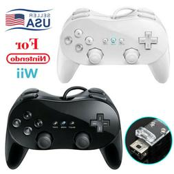 Wired Classic Controller Pro Gamepad for Wii Remote Console