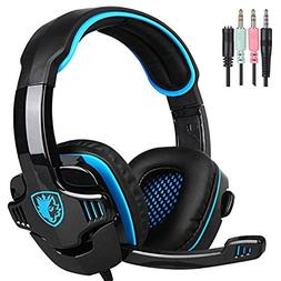 Sades Wired 3.5mm Stereo Universal Gaming Headset with Micro