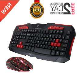 Wireless Gaming Keyboard&Mouse Combo 2.4G Waterproof Recharg