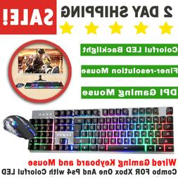 Wired Gaming Keyboard and Mouse Combo FOR Xbox One And Ps4 w