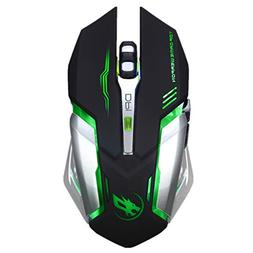 Amaping Wireless Gaming Mouse, Silent Click Wireless Recharg