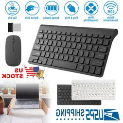 Wireless Keyboard and Mouse Combo USB Computer PC Gaming Des
