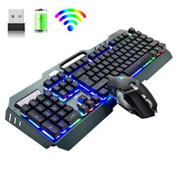 Wireless Rechargeable Gaming Keyboard and Mouse Set 3800mAh