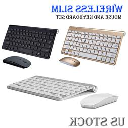 Wireless USB 2.4GHZ Keyboard and Mouse Slim Combo Set for PC