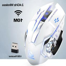 FREE WOLF X8 Rechargeable Wireless SilentLED Backlit USB Erg