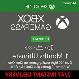 Xbox Live 1 Month Gold & Game Pass Ultimate  Instant Deliver