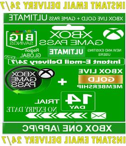 XBOX LIVE 14 Day GOLD + Game Pass  Trial Code INSTANT DELIVE
