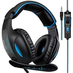 3.5 mm Wired Over Ear Headset With Microphone Deep Bass Nois