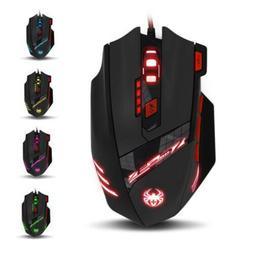 zelotes computer gaming mouse 8000 dpi 8